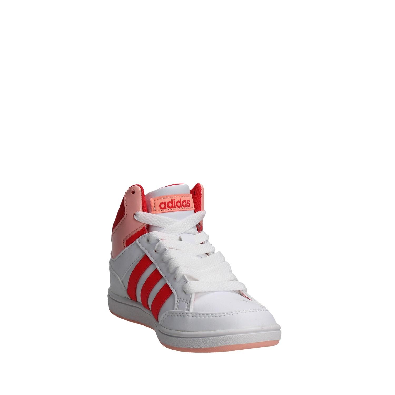 best service 28e83 c06cd Adidas-B74653-BIANCO-ROSA-Sneakers-Alta-Bambino-Primavera-