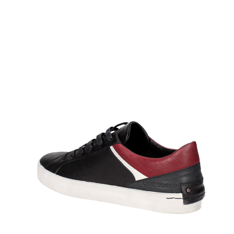 Crime London 11017A17.20 NERO Sneakers Bassa Uomo Autunno Inverno  224fdf42c6e