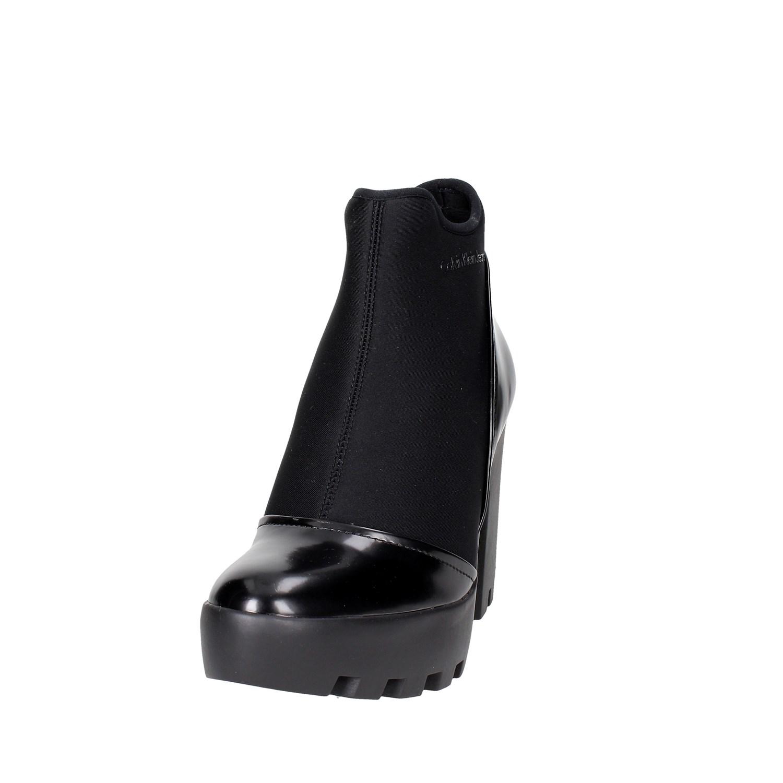 Calvin Klein Jeans R0586 NERO NERO R0586 Tronchetto Tacco Damenschuhe Autunno/Inverno 02ffbc
