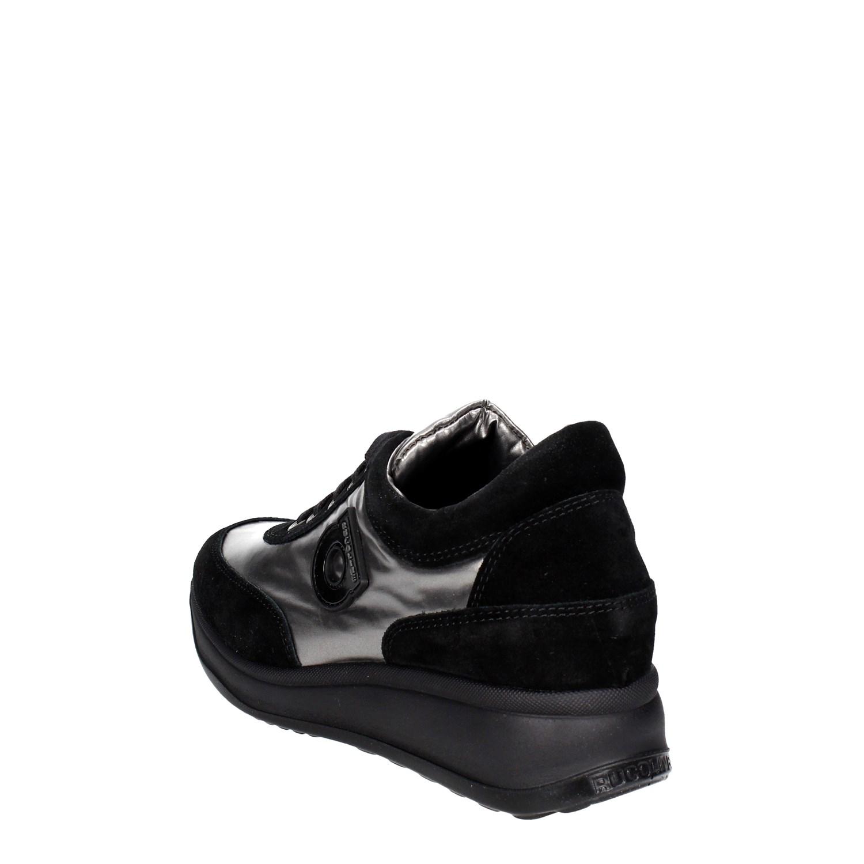 Agile By Rucoline  1304(6) mujer negro plata zapatillas Bassa mujer 1304(6) Autunno Inverno 954f92