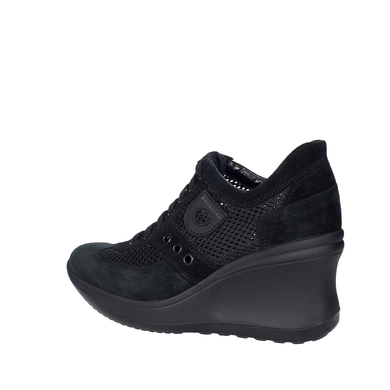 Agile By Rucoline 1800(A11) NERO Sneakers Alta Donna Primavera ... be39e1661c0