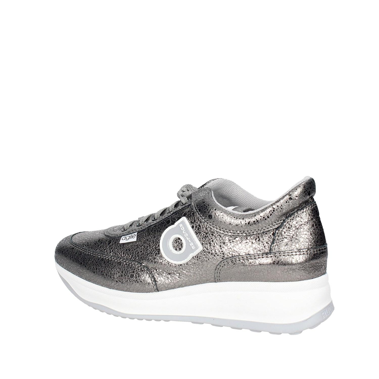 Dettagli su Agile By Rucoline 1304(7 ) ARGENTO Sneakers Bassa Donna  Autunno Inverno aa7769ad1ef