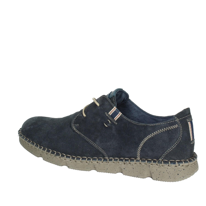 Dettagli su Pregunta Uomo PAE150003 002 BLU Sneakers PrimaveraEstate Camoscio