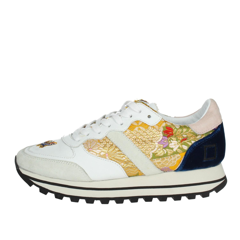 D.a.t.e. I18-205 Weiss Niedrige Sneakers Sneakers Niedrige Damen Herbst/Winter 7bffa5