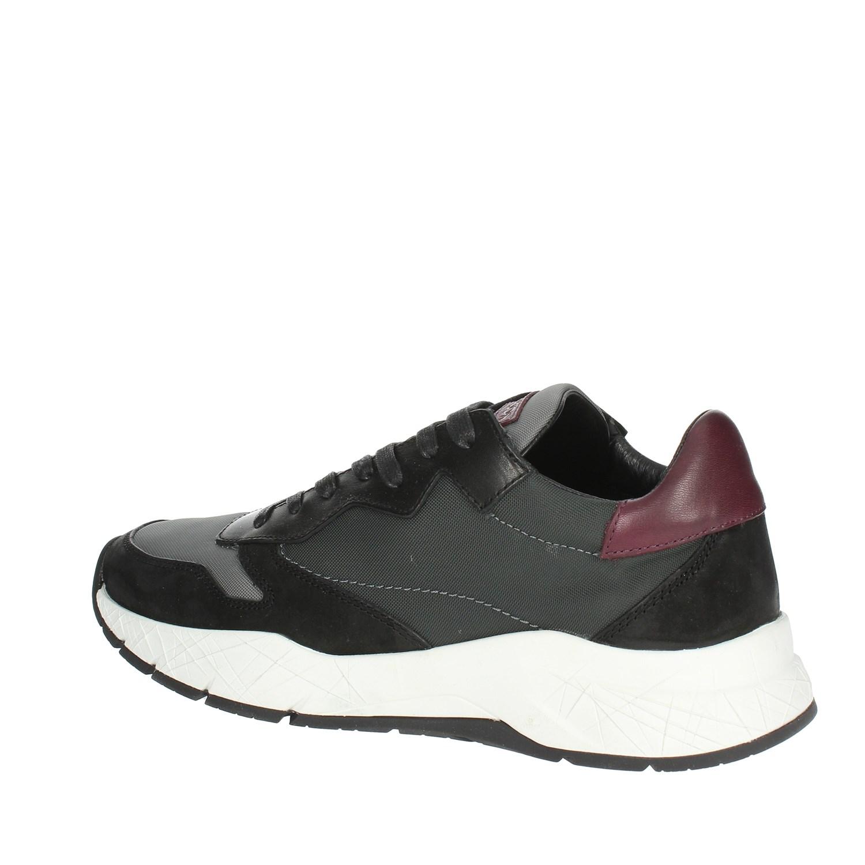 Crime London 11900AA1.30 NERO GRIGIO Sneakers Bassa Uomo Autunno ... e25c6d7a593