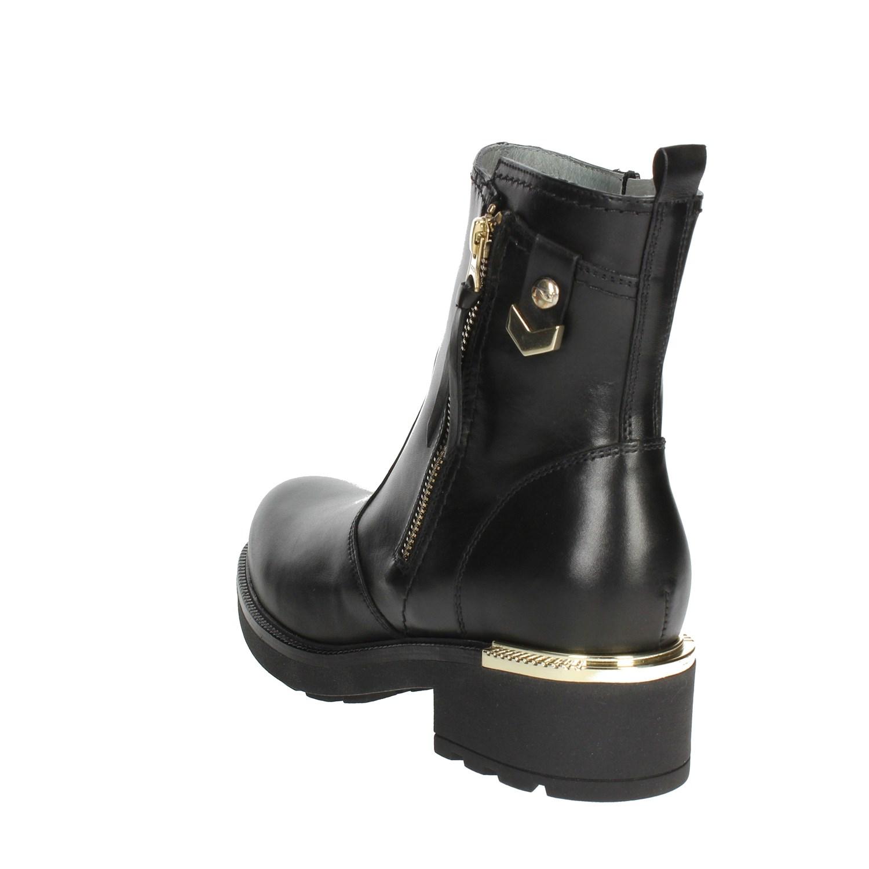 negro al Giardini A80715D 10 Negro botas al negro Tobillo Mujeres Otoño Invierno 6d3f60