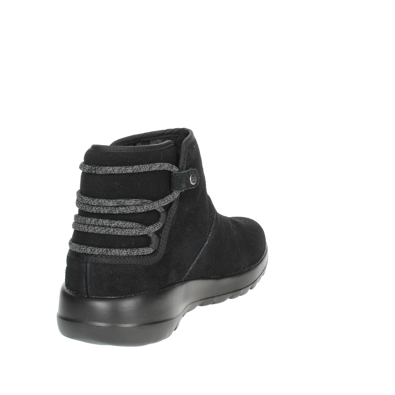Sneakers Nero Donna inverno Skechers Autunno Alta bbk 15502 qgwvEt1