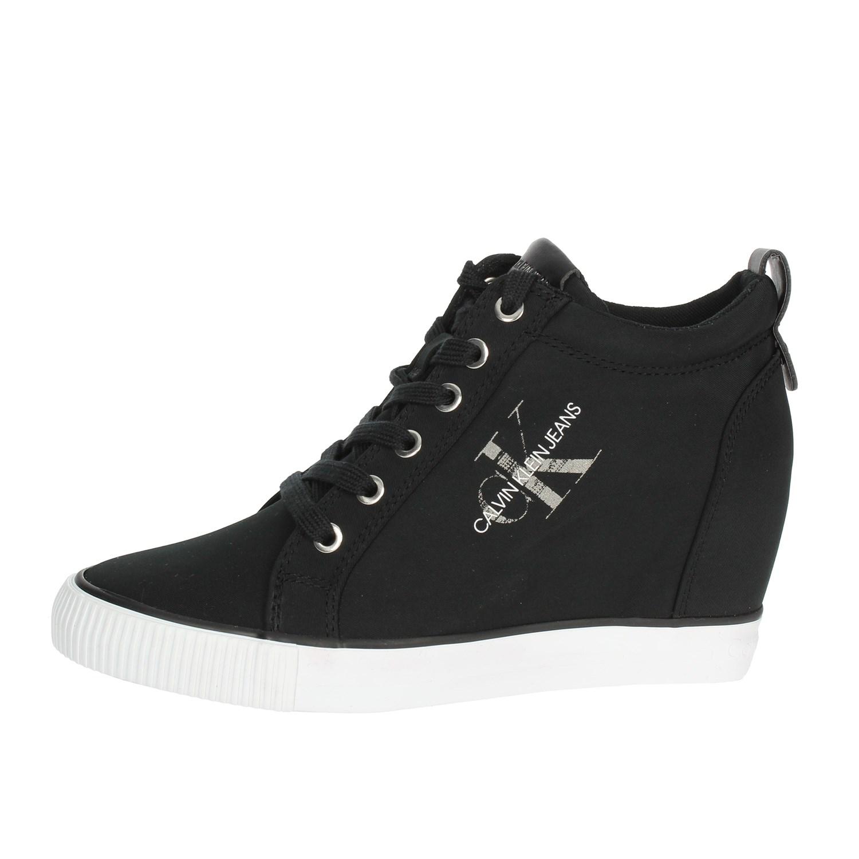 Alta Calvin Donna Re9800 Klein Sneakers Nero inverno Autunno Jeans ffqApRX