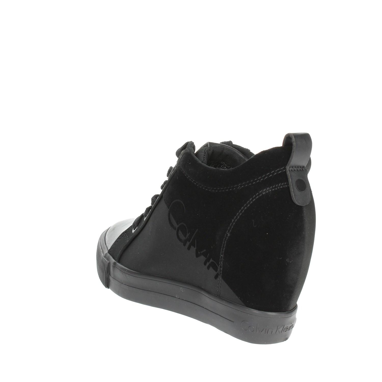 buy online 40bfe 71f05 Details zu Calvin Klein Jeans R0647 Schwarz Hoch Sneakers Damen  Herbst/Winter
