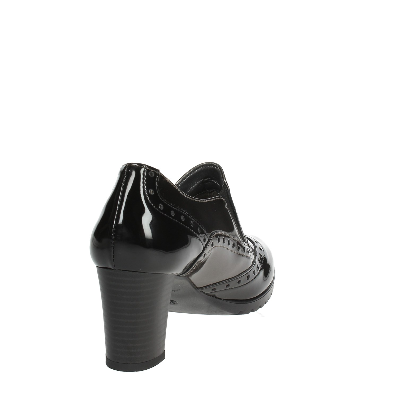 Autunno Donna Mocassino Comart inverno 862591 Tacco grigio Nero nYwn1AqpR