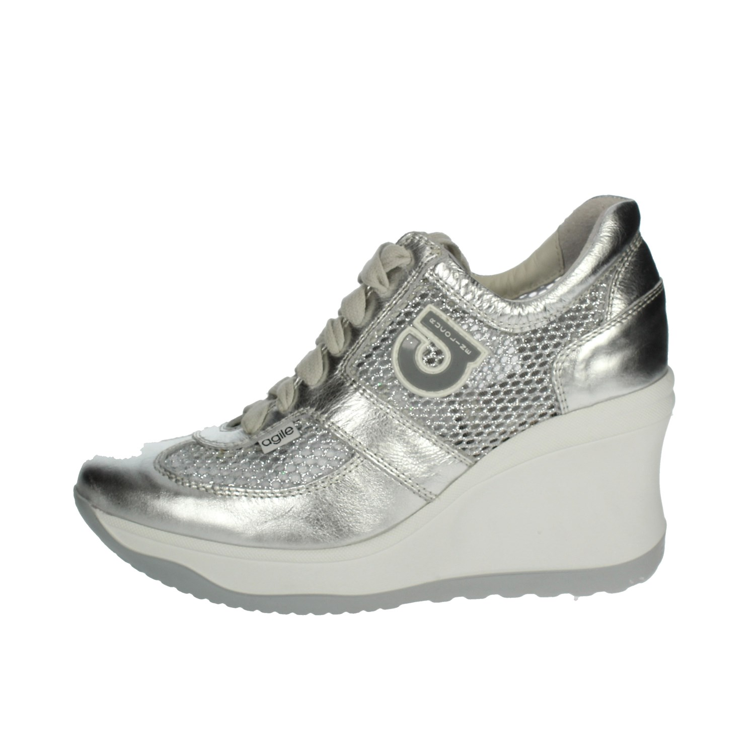sports shoes 5d1b9 6fcf4 Details about Agile By Rucoline Donna 1800 Sneakers Primavera/Estate  Pelle/tessuto