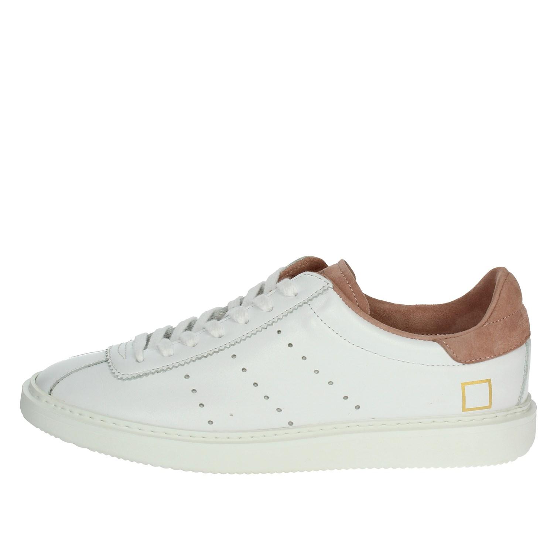 Dettagli su D.a.t.e. Donna E19 6 BIANCOROSA Sneakers PrimaveraEstate Pelle