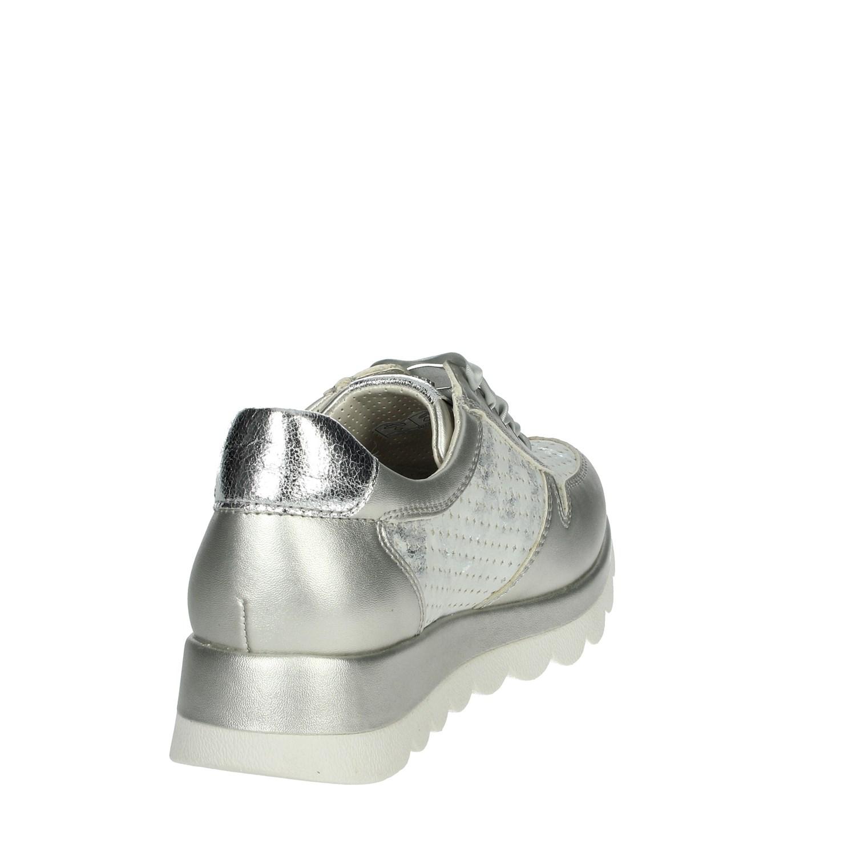 Woman Été Sneakers Valleverde Printemps Cuir Silver 17313 Daim 4wdUxqv