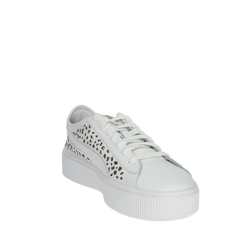 87859988 Puma Donna 369378 02 BIANCO Sneakers Primavera/Estate Pelle ...