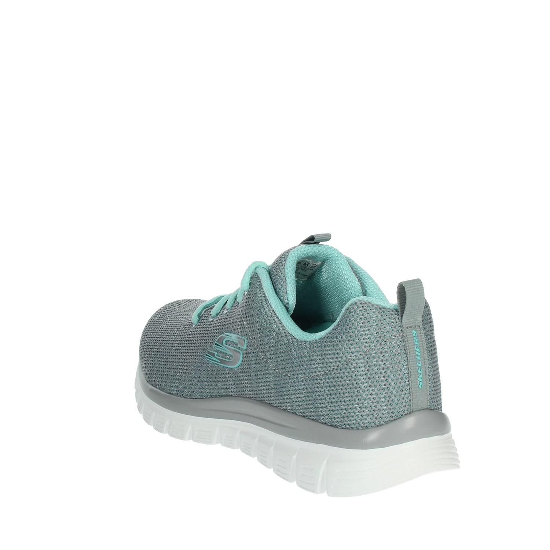 Grau Sneakers Damen sommer Skechers Frühjahr gymn 12614 FKcJl1T