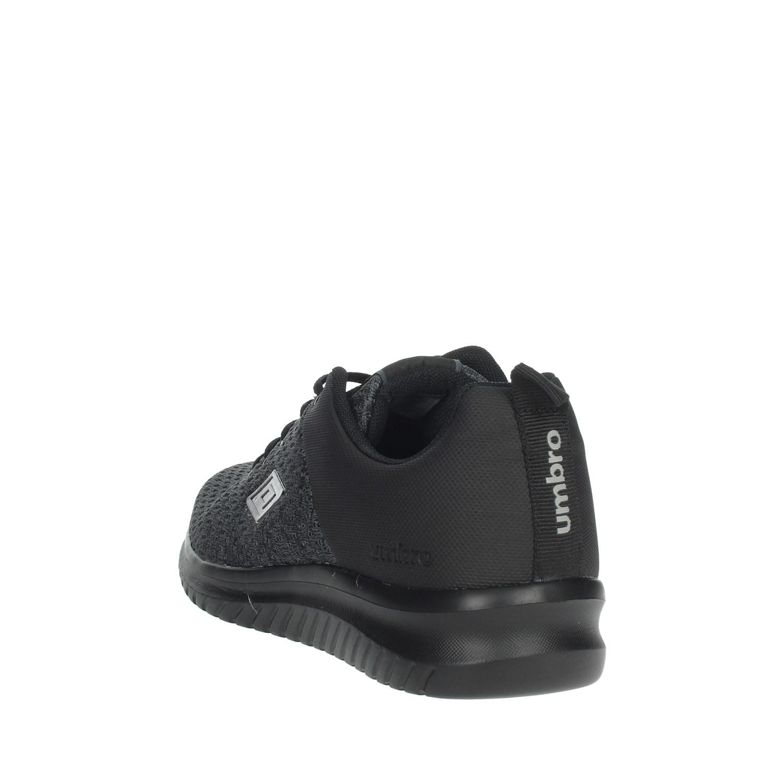 Umbro-Uomo-RFR38068S-NERO-GRIGIO-Sneakers-Autunno-Inverno-Nylon miniatura 3
