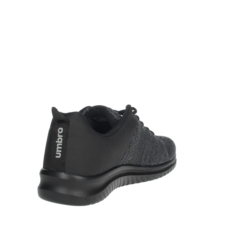 Umbro-Uomo-RFR38068S-NERO-GRIGIO-Sneakers-Autunno-Inverno-Nylon miniatura 4