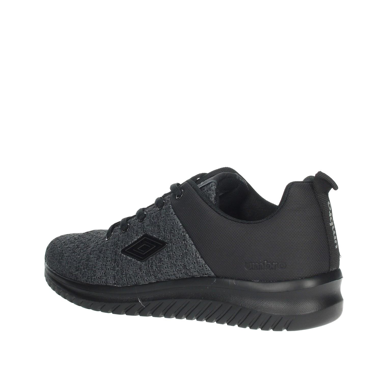 Umbro-Uomo-RFR38068S-NERO-GRIGIO-Sneakers-Autunno-Inverno-Nylon miniatura 9
