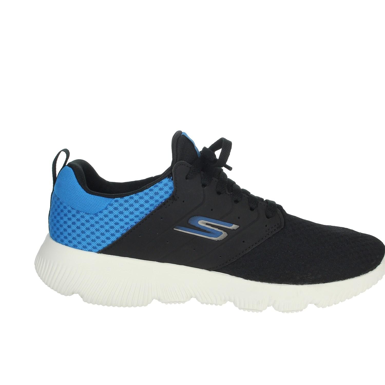 Dettagli su Skechers Uomo 55162 NEROBLU Sneakers PrimaveraEstate Nylon