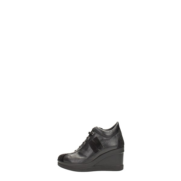 Night & Day Scarpe Donna Sneakers Alta NERO 172PTS