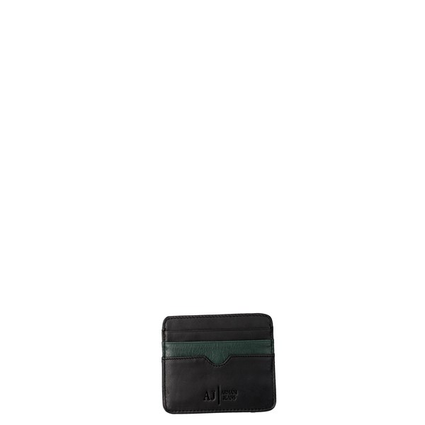 Armani Jeans Accessories Card holders Black/Green 7AB