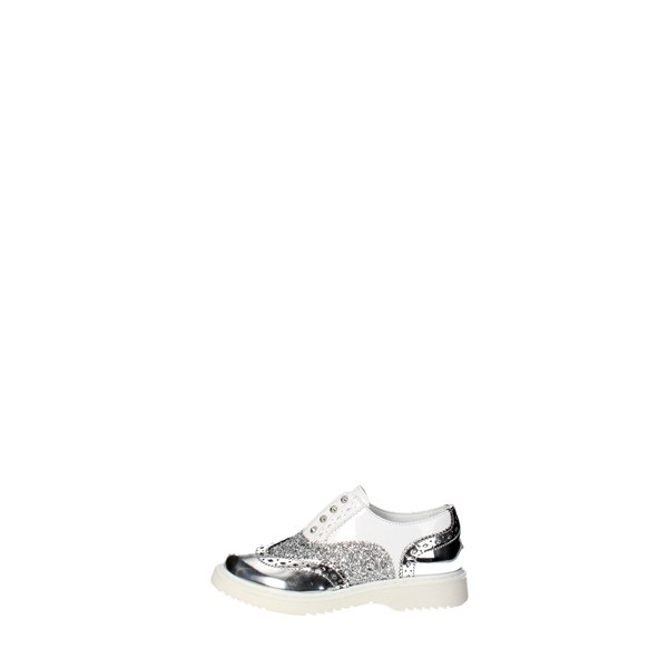 Cult Shoes Brogue White/Silver CLJ101544