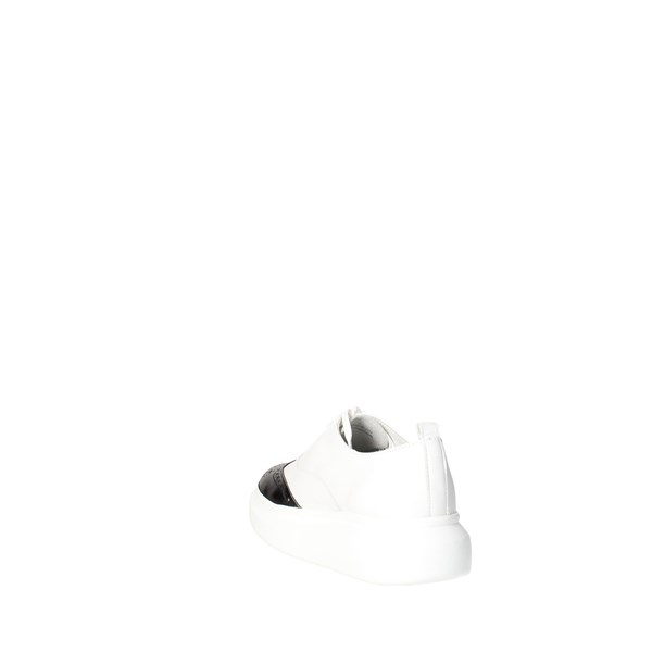 Bronx Shoes Parisian White/Black 65554-D