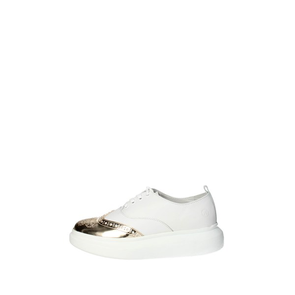 Bronx Shoes Brogue White/Gold 65554-E