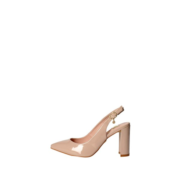 O6 Shoes Sling Back Pumps Beige SA0346