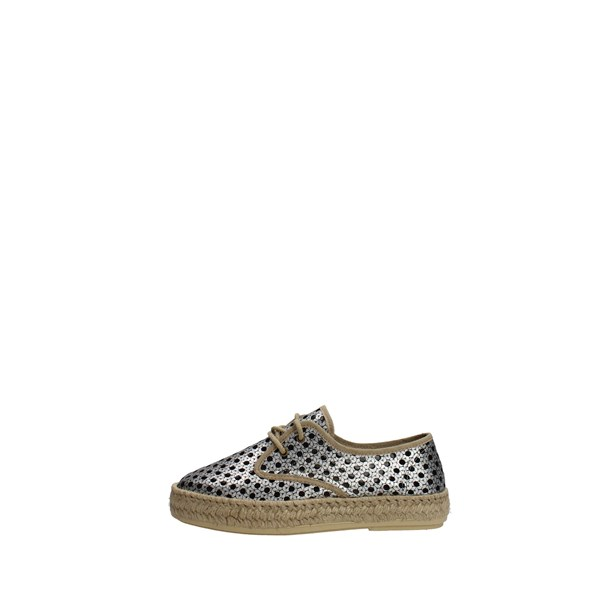 Trashdeluxe Shoes Espadrilles Silver T-09