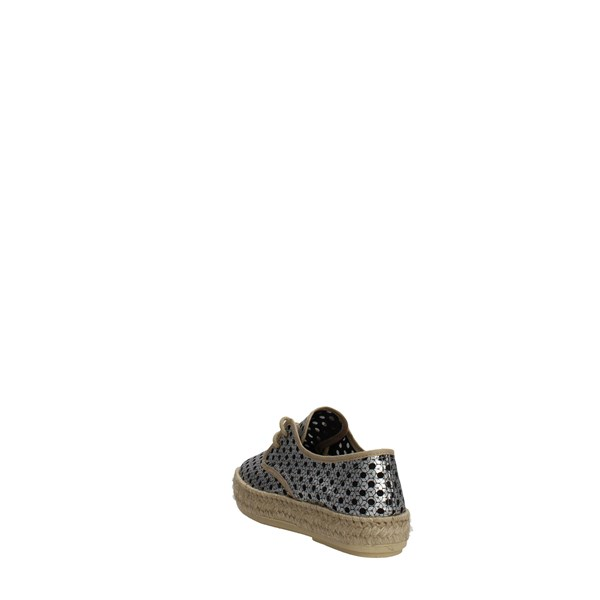 <Trashdeluxe Shoes Espadrilles Silver T-09