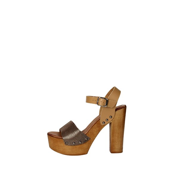 Tdl Collection Scarpe Donna Sandalo CUOIO 5374294