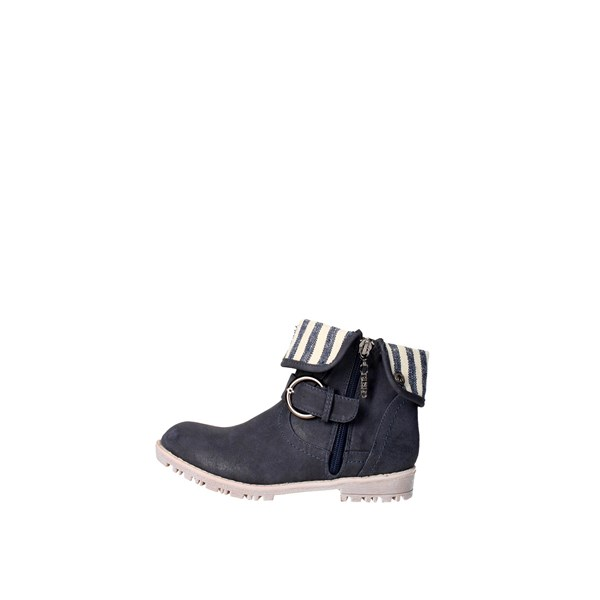 Chika10 Shoes Ankle Boots Blue TIGER02