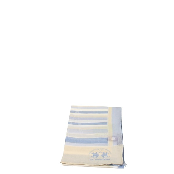 La Martina Accessories Pashmina Light Blue PN1 H7013
