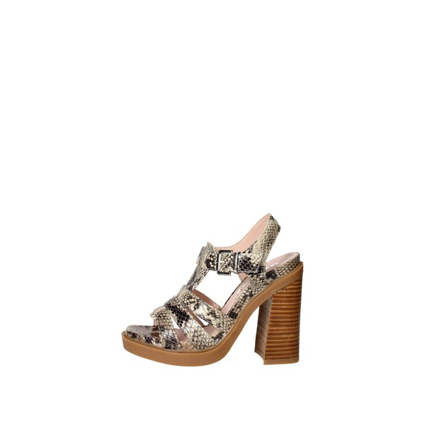 Bronx Shoes Sandal Brown Taupe 84436-B