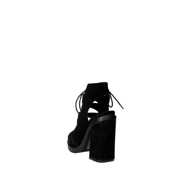 Bronx Shoes Sandals Black 84443-D