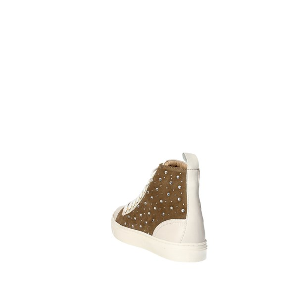 <Braccialini Shoes Sneakers Brown Taupe B2