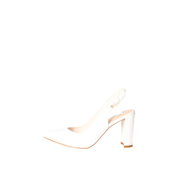 O6 Shoes Sling Back Pumps White SA0346