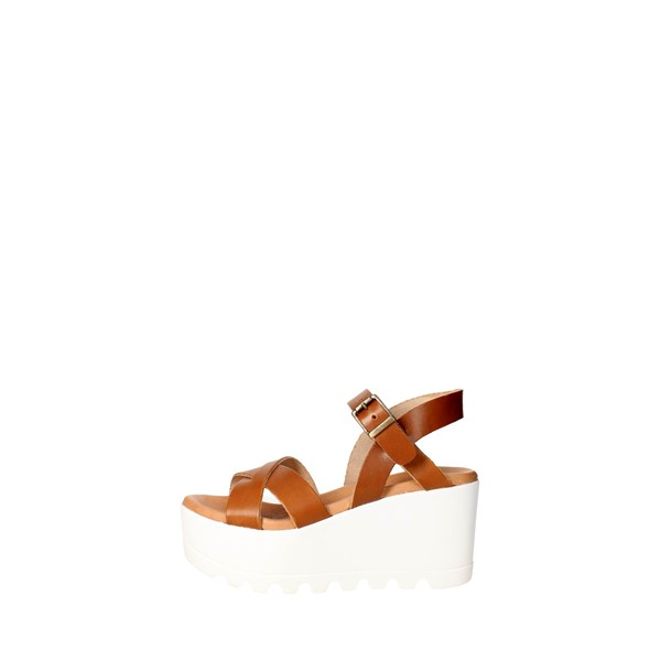Vittoria Bassi  Shoes Sandals Brown leather 209