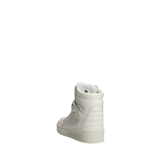 <Cult Scarpe Donna Sneakers Alta BIANCO CLE102122