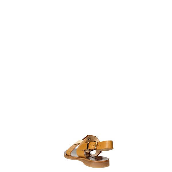 <Florens Shoes Sandals Brown leather F7636