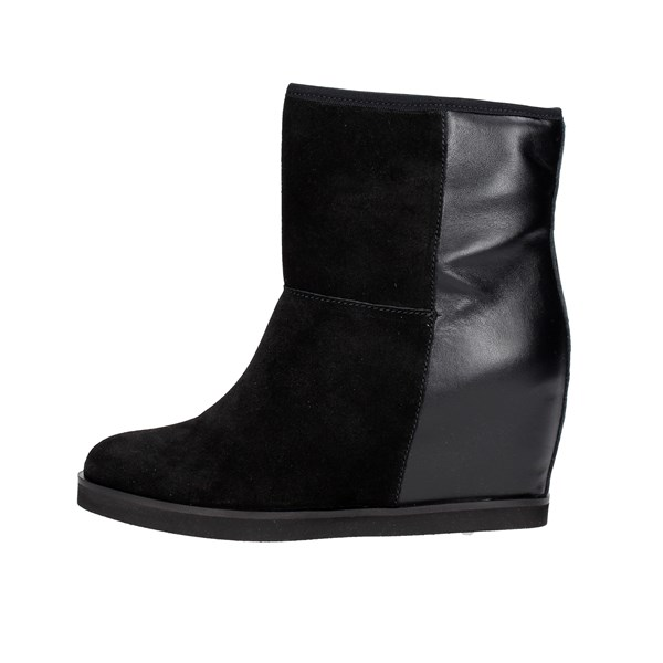 Frau Shoes Ankle Boots With Wedge Heels Black 82P4