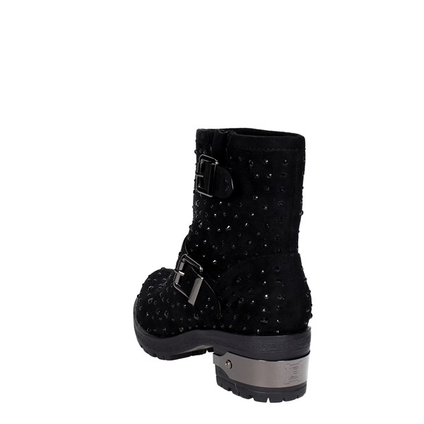 <Laura Biagiotti Shoes Ankle Boots With Wedge Heels Black 1501