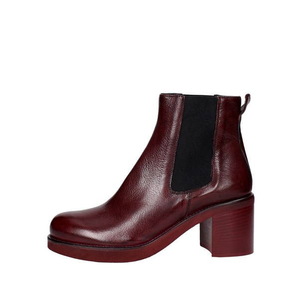 Keb Shoes Ankle Boots With Heels Burgundy 53200