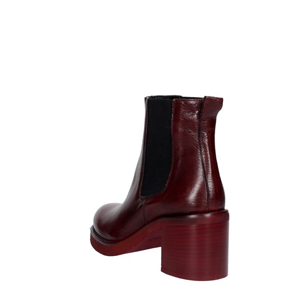 <Keb Shoes Ankle Boots With Heels Burgundy 53200