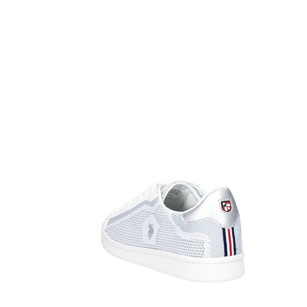 <U.s. Polo Assn Shoes Low Sneakers White/Silver DARFW7328S6/MH1