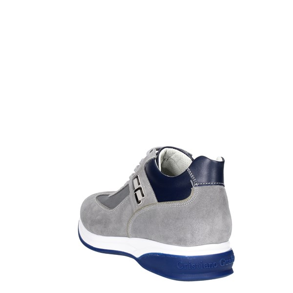 <Cristiano Gualtieri Shoes Low Sneakers Grey/Blue 536-8