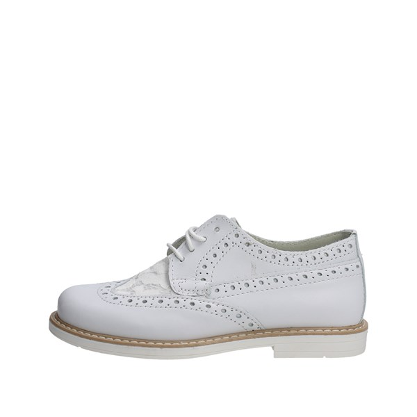 Mkids Shoes Brogue White MK6320F7E.C