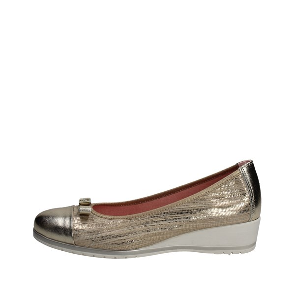 Pitillos Shoes Ballet Flats Gold 3502