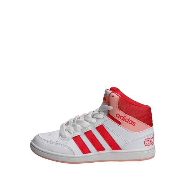 Adidas Shoes High Sneakers White/Pink B74653